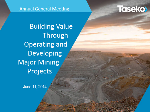 June 2014 - AGM Presentation