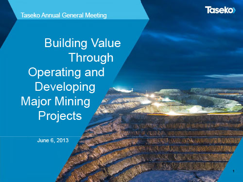 June 2013 - AGM Presentation