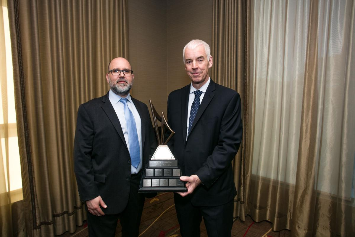 Richard Tremblay (right) the 2018 Mining Person of the Year, with Robert Rotzinger (left), Chairman of the MABC​​