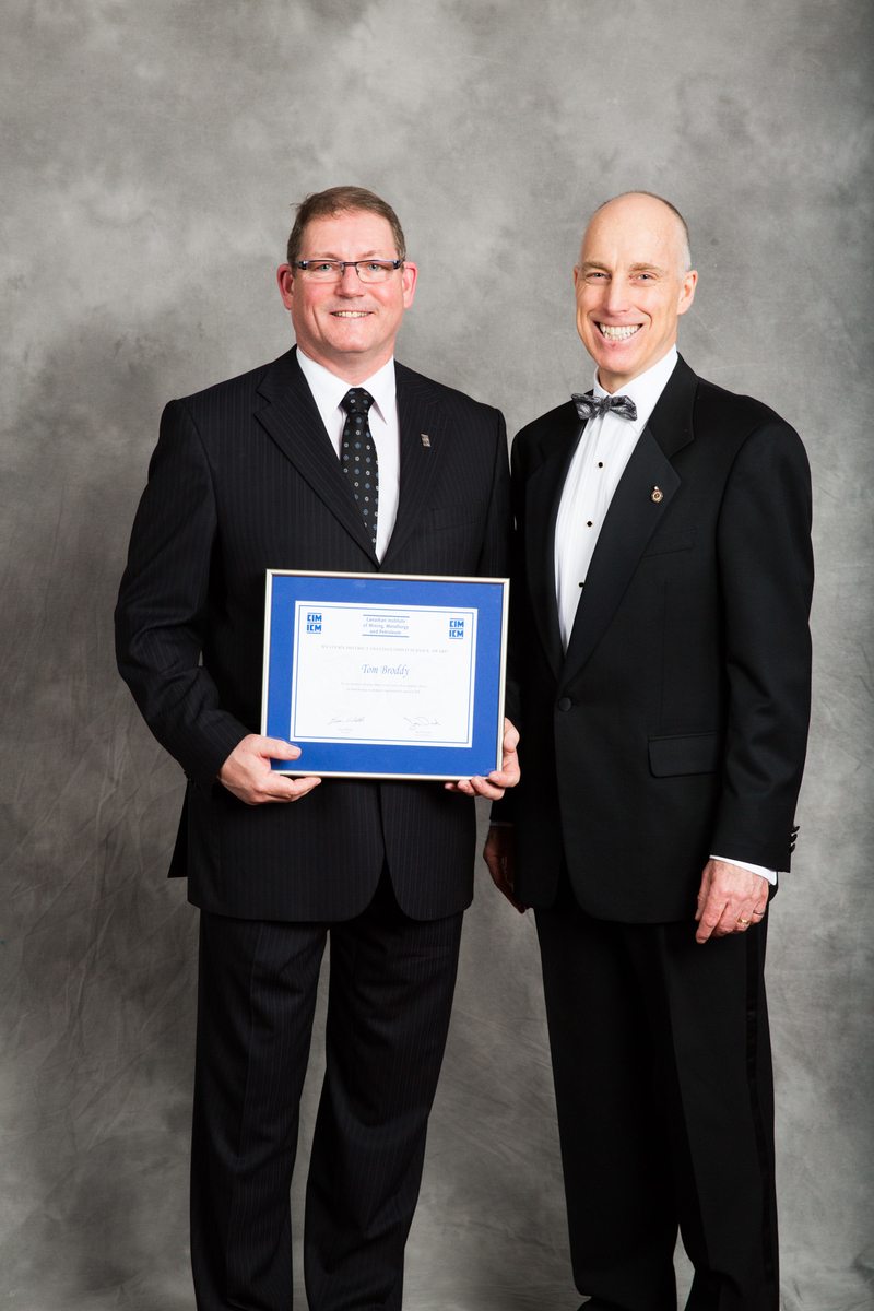 Tom Broddy - District Distinguished Service Award: In recognition of more than seven years of exemplary effort in introducing students to our industry and to CIM