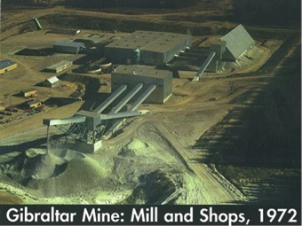 Gibraltar Mine: Mill and Shops, 1972