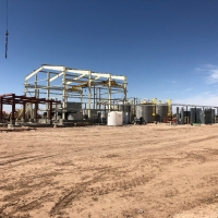 Construction of the SX/EW Copper Processing Plant (April 19, 2018)