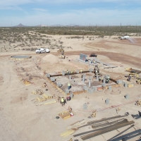 Overview of Florence Copper PTF construction site (April 4, 2018)