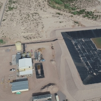 Florence Copper's Production Test Facility SX/EW Processing Plant and Solutions Pond (July 27, 2018)