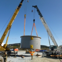 GDP3 - April 2012 - Ball Mill Shell #3 Being Received at Site