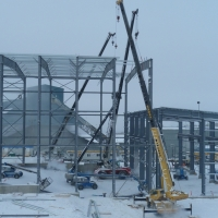 GDP3 - Jan 2012 - Installation of last columns for the floatation area